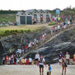 Acceso a la playa de las Catedrales cerca de Ribadeo en Galicia