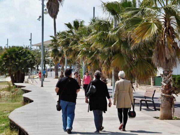Paseo marítimo del puerto de Cambrils en Tarragona