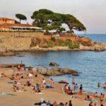 Playa en Calella de Palafrugell en la Costa Brava