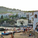 Playa Port Bo en Calella de Palafrugell en la Costa Brava