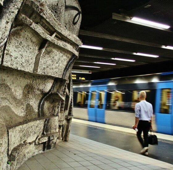 Arte en el Metro de Estocolmo en Suecia
