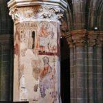 Pinturas góticas en columna de la Catedral de Tarazona