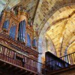 Organo del monasterio románico Santa María de Valdediós en Asturias