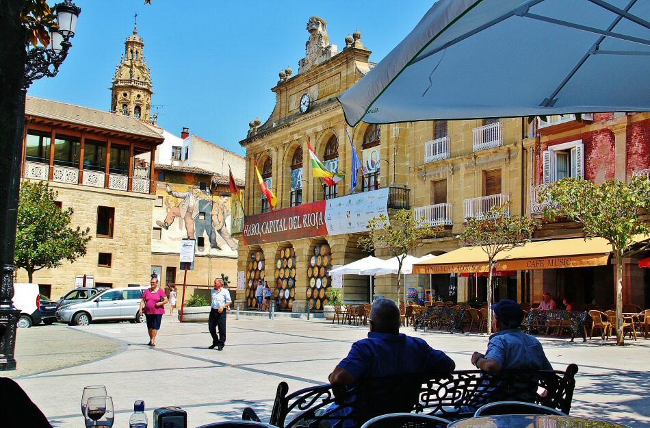 Plaza de la Paz en Haro en La Rioja