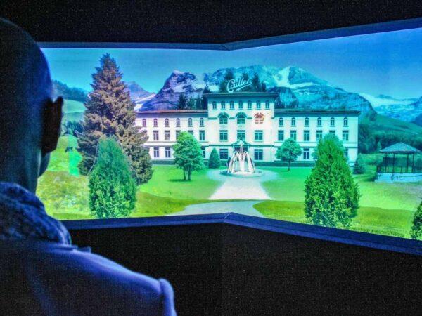 Audiovisual en el museo de la fábrica de chocolates Cailler