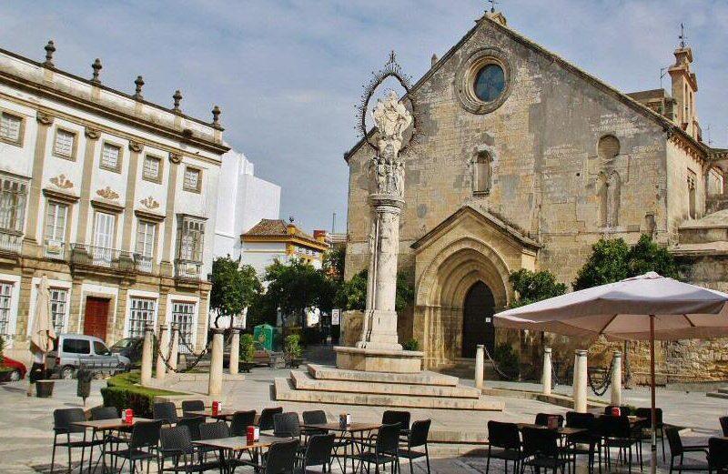 Plaza de la Asunción en Jerez de la Frontera en Cádiz