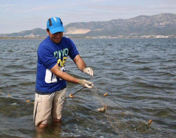 Pesca tradicional en el Delta del Ebro en Tarragona