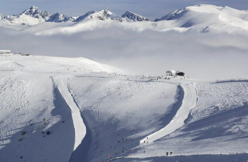 Paisajes nevados en Grandvalira en Andorra