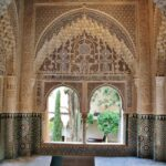 Mirador de Daraxa en palacio de los Leones en Alhambra