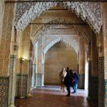 Rincón de los palacios Nazaríes en Alhambra de Granada