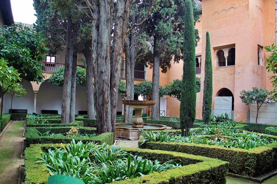 Patio de la lindaraja en los palacios nazar es en alhambra for Jardines nazaries