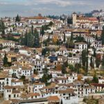 Vistas del barrio del Albaicín desde Alhambra de Granada