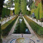 Jardines del Generalife en la Alhambra de Granada