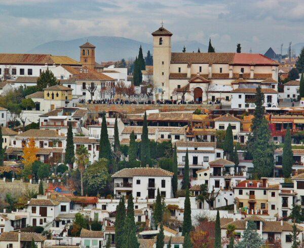 Mirador de San Nicolás desde la Alhambra de Granada