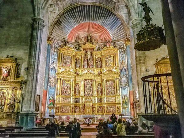Altar Mayor de la iglesia de Santa María de Laguardia en Rioja