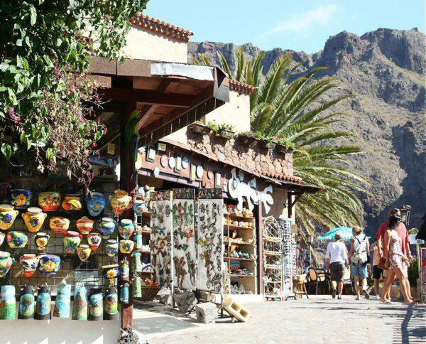 Rincón del Barranco de Masca en Tenerife en las islas Canarias