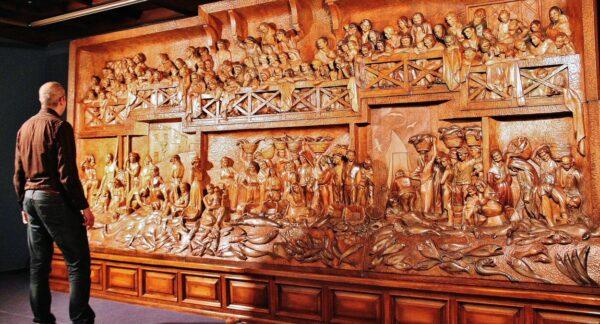 Retablo del Mar de Sebastián Miranda en el museo Jovellanos de Gijón