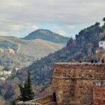 Palacio del Generalife desde la Alcazaba de la Alhambra de Granada