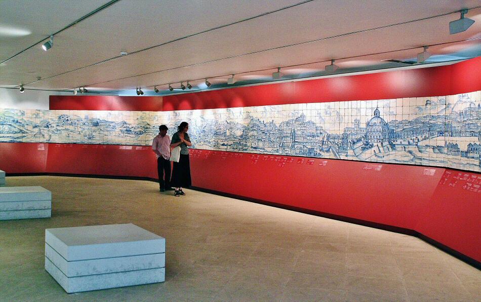 Museo del Azulejo, con la gran panorámica de Lisboa del s XVIII