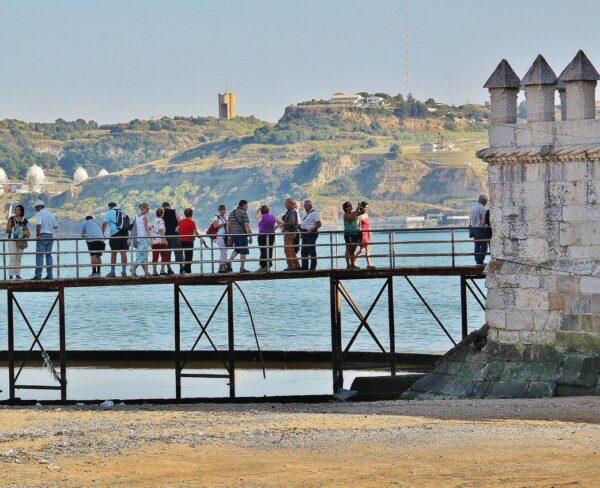 Entrada a la Torre de Belem en los alrededores de Lisboa