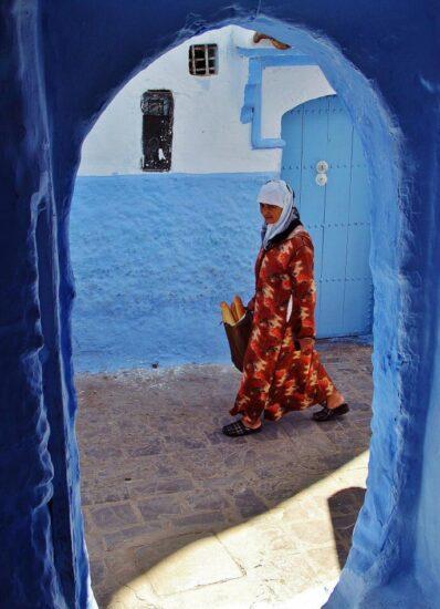 Rincón de la medina de Chefchauen al norte de Marruecos