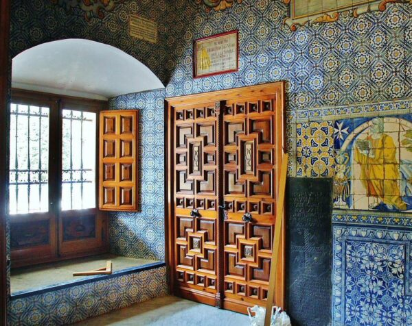 Azulejos en la Basílica del Prado en Talavera de la Reina en Toledo