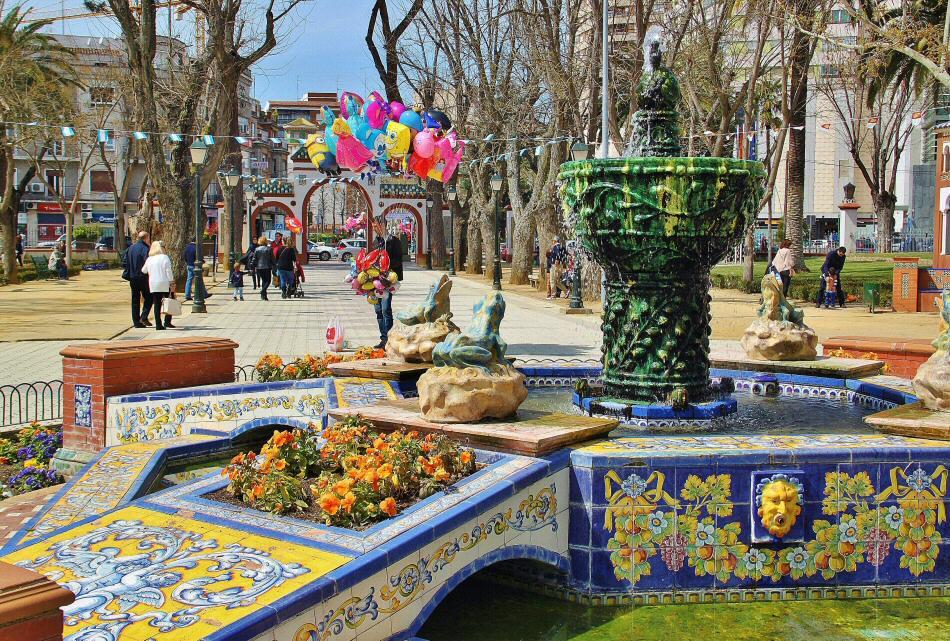 Azulejos Para Baños En Talavera Dela Reina:de las Ranas en los jardines del Prado en Talavera de la Reina en