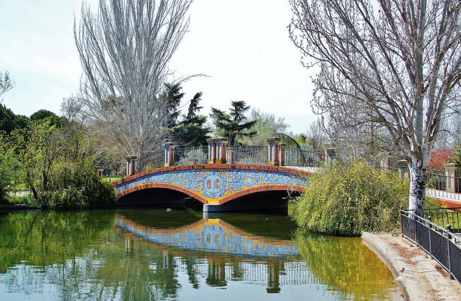 Azulejos Para Baños En Talavera Dela Reina:Puente con azulejos en el parque de la Alameda de Talavera de la Reina