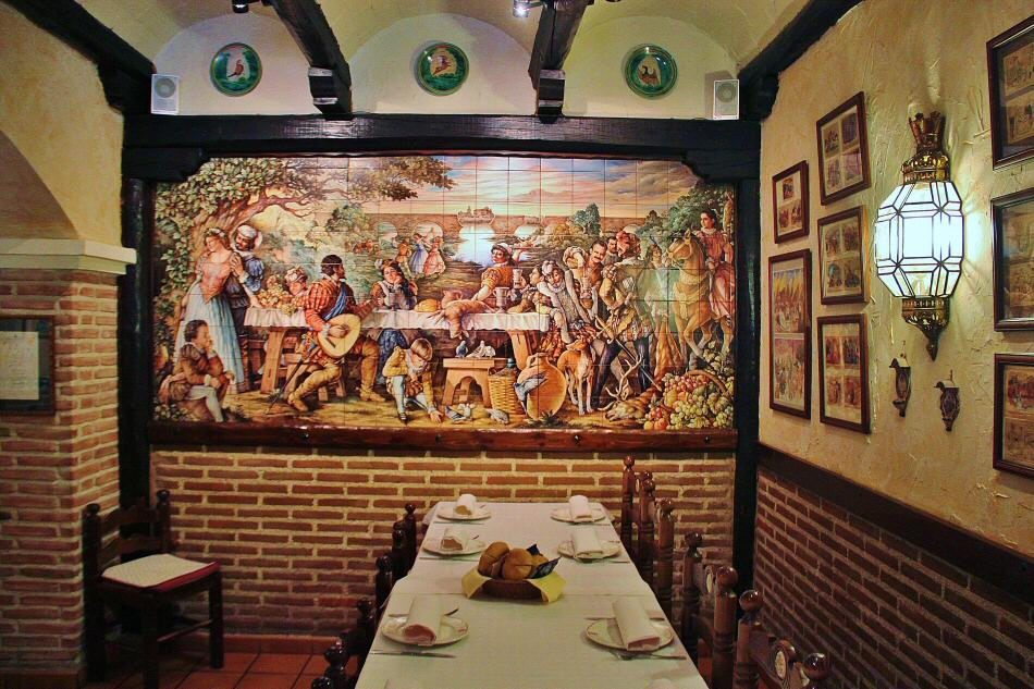 Azulejos Para Baños En Talavera Dela Reina:Decoración de azulejos en restaurante Mingote en Talavera de la Reina