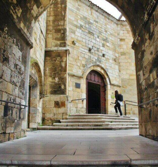 Pórtico de entrada a la catedral de Santander