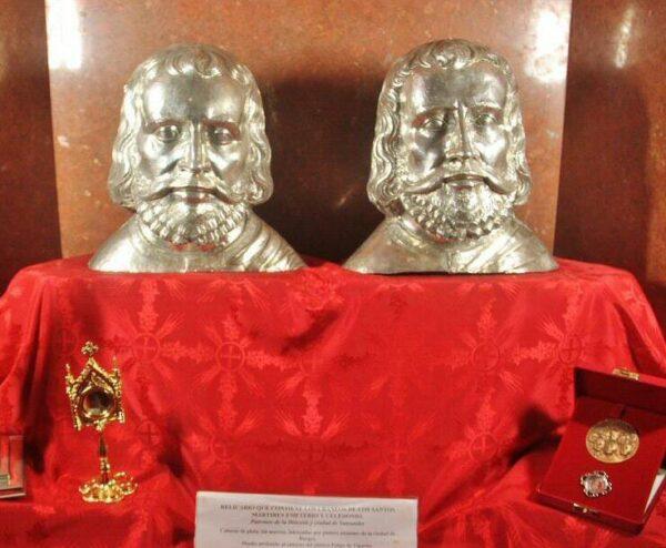 Reliquias de San Emeterio y San Celedonio en iglesia del Cristo de Santander