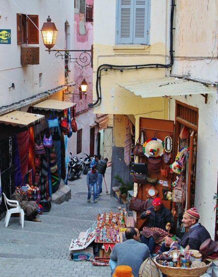 Medina de Tánger al norte de Marruecos