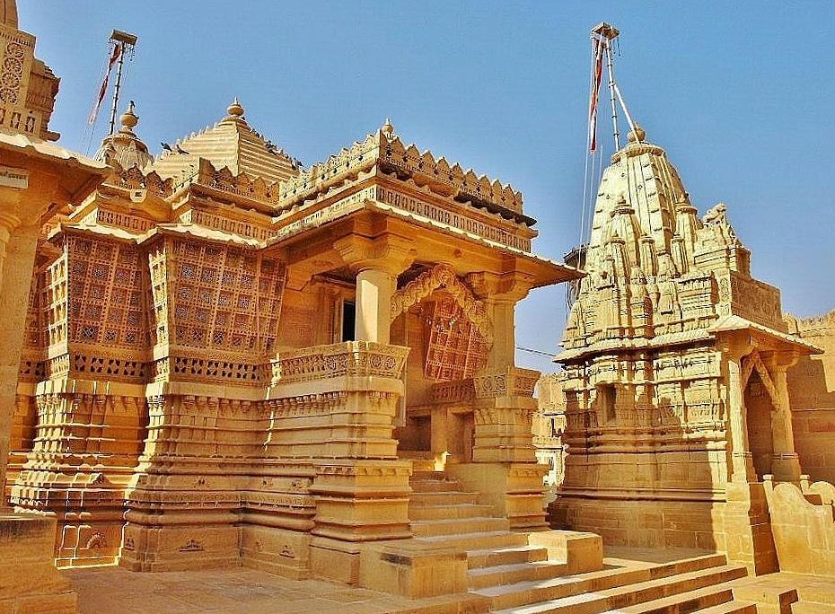 Jaisalmer en la región de Rajastán en la India