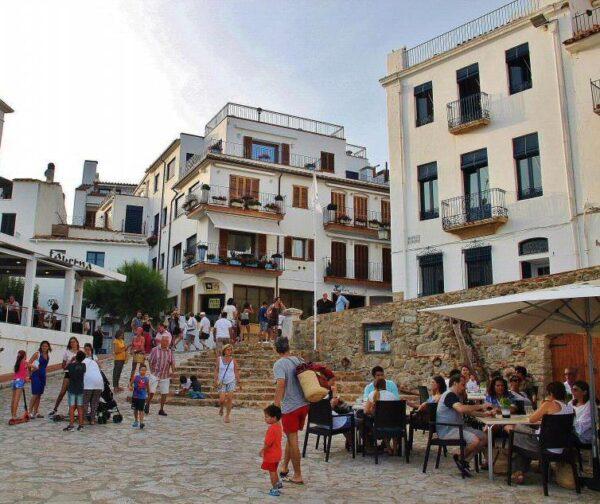 Calella de Palafrugell en la Costa Brava de Cataluña