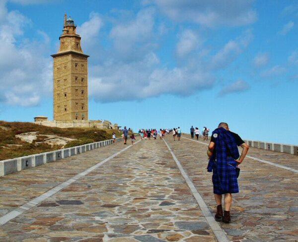 Torre de Hércules en A Coruña en Galicia