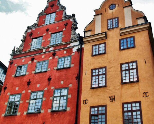 Plaza Stortorget del barrio Gamla Stan en Estocolmo