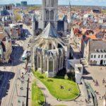 Iglesia de San Nicolás desde el campanario de Gante