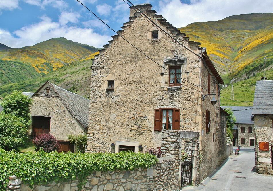 Arties en el Valle de Arán en los Pirineos de Cataluña