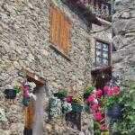 Rincón de Bagergue en el Valle de Arán en los Pirineos de Cataluña