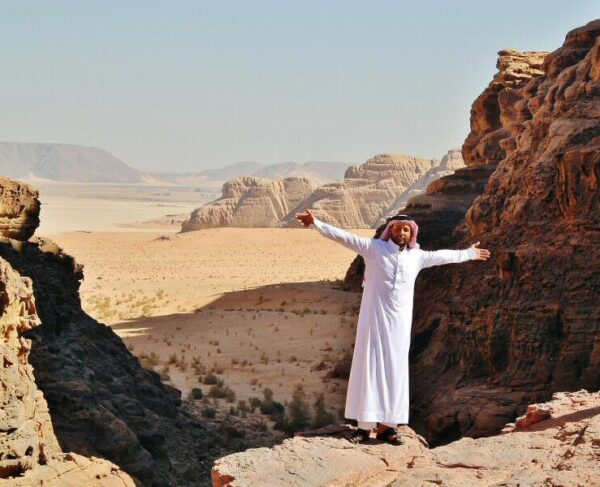 Paisajes del desierto Wadi Rum en Jordania