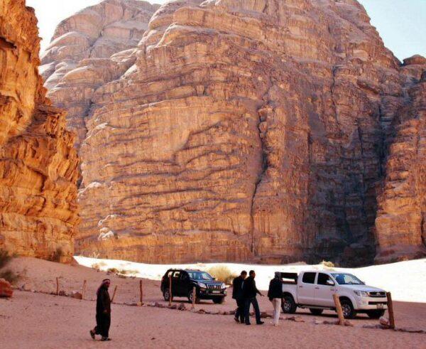 Formaciones rocosas del desierto Wadi Rum en Jordania