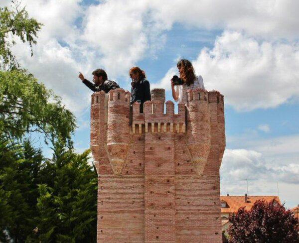 Castillo de la Mota en parque temático del Mudéjar en Olmedo