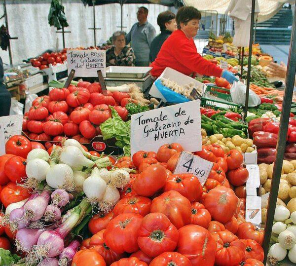Fruta en Mercado de la Esperanza en Santander