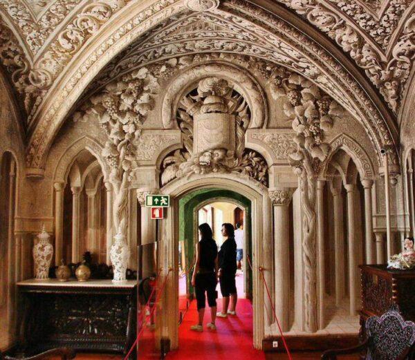 Salón Árabe en palacio da Pena en Sintra cerca de Lisboa