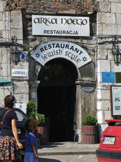 Restaurante judío en el barrio Kazimierz de Cracovia