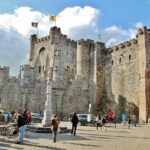 Castillo de los Condes de Flandes en Gante en Bélgica