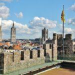 Vistas de Gante desde el castillo Condes de Flandes