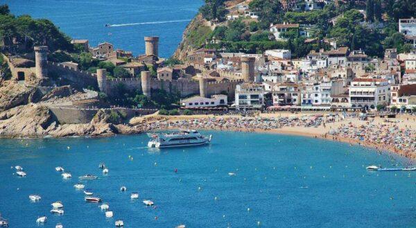 Tossa de Mar en la Costa Brava en Girona