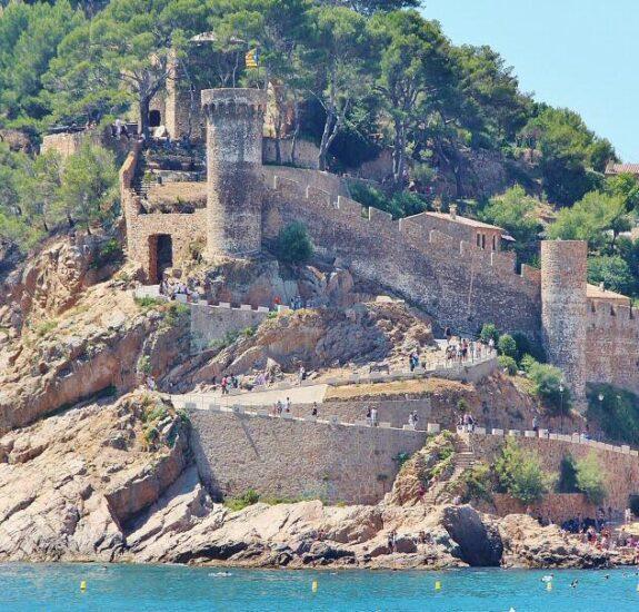 Recinto medieval de Tossa de Mar en Costa Brava