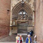 Pórtico de entrada a la catedral de Albi al sur de Francia